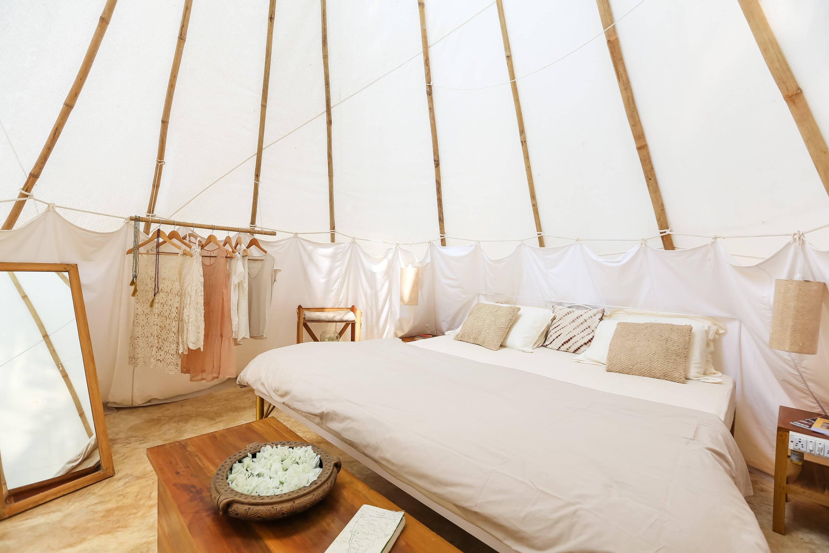 glamping in luxury teepee tents in south goa india